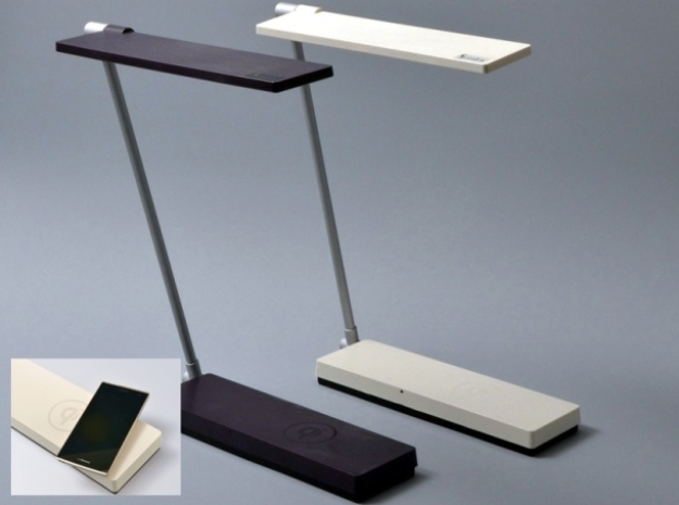 LED table lamp qi wirelessly charges devices - Qi Wireless Charging - Cordless Desk Lamp Roselawnlutheran