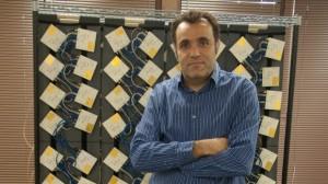 CEO HatemZeiner and the prototype Cota array