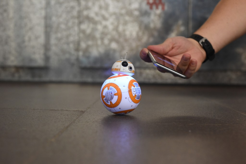 To pair your phone with BB-8, just hold it near his body – image credit: Ian Morris