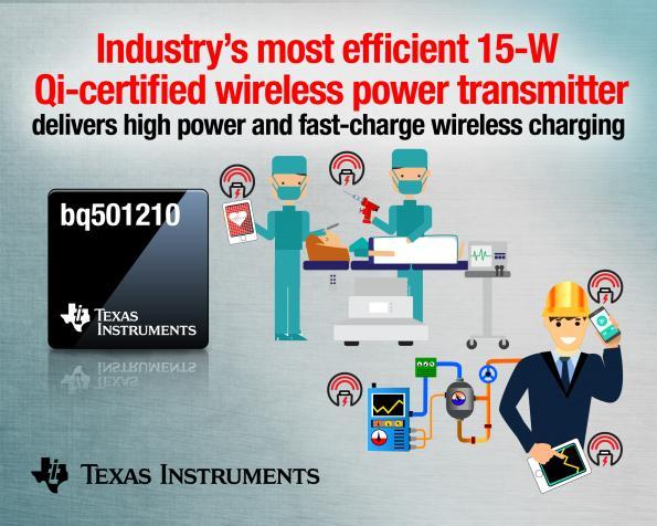 Texas Instruments 15w wireless charging