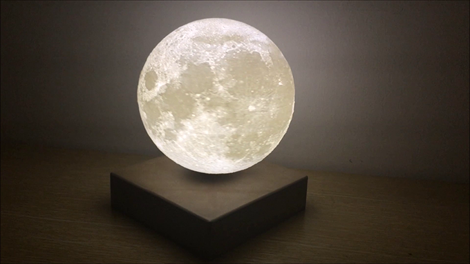 Levitating Moon Light With Wireless Charging Available In